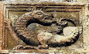 Ptuj - Ouroboros in a wall of the castle of Ptuj
