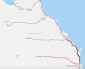 Queensland Rail Map Queensland Rail   Wikipedia