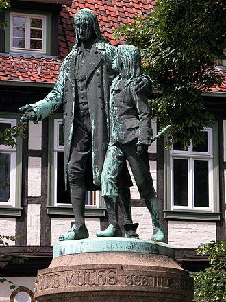 Johann Christoph Friedrich GutsMuths - GutsMuths statue in Quedlinburg.