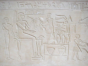 Ashayet - Relief of Ashayet from her limestone sarcophagus