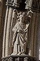 Quimper - Cathédrale Saint-Corentin - Statue des Voussures du portail - PA00090326 - 0003.jpg