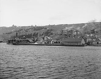 Upper Peninsula of Michigan - Smelter at Quincy Hill, Hancock, Michigan circa 1906
