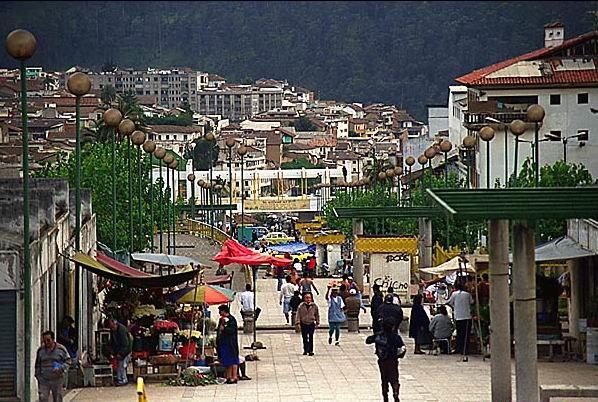 Quito sidewalk market