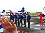 ROCAF Thundertigers Team Pilots Waving Hands for People after Performance 20120811.jpg