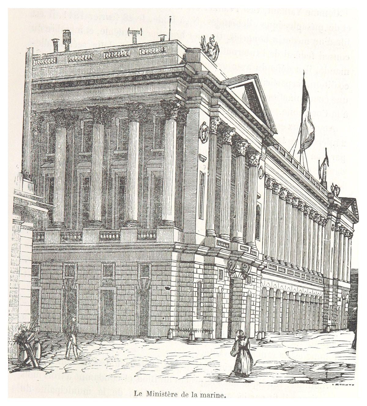 ROUQUETTE(1871) p193 Le Ministerie de la Marine.jpg