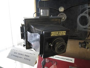 English: Vintage camera by R. Lechner, Bezirks...