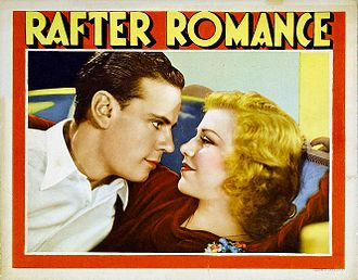 Rafter Romance - Norman Foster and Ginger Rogers in Rafter Romance