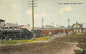 Orange, Massachusetts - Railroad station c. 1912