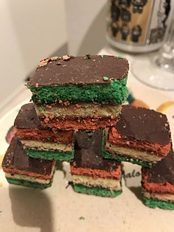 Alternative Names Rainbow Cake Neapolitan Cookies Seven Layer Venetian Italian Flag Tricolor