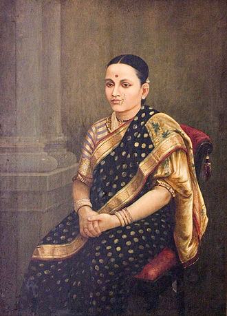 National Gallery of Modern Art - Image: Raja Ravi Varma Portrait of a Lady Google Art Project