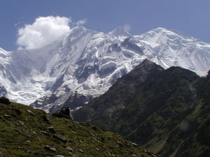Rakaposhi - Rakaposhi Peak from Taghafari Base Camp