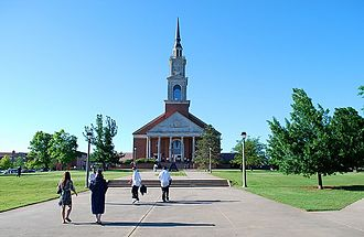 Oklahoma Baptist University - Raley Chapel on graduation day