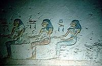 Seated deities from the tomb of Ramesses VII