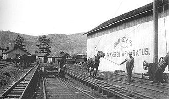 Ramsey car-transfer apparatus - Ramsey's Car Transfer Apparatus used at Phoenicia in 1882