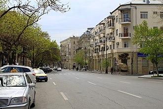 Rashid Behbudov Street - Image: Rashidbehbudovstr