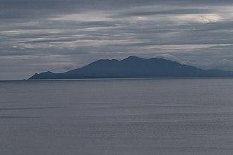 Rasshua - Rasshua Island as seen from the Sea of Okhotsk looking south.