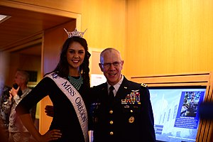 Miss Oregon - Allison Cook, Miss Oregon 2013, with Raymond F. Rees
