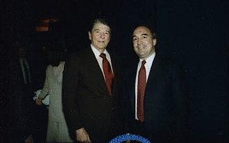 John Engler - Engler with President Ronald Reagan in 1988