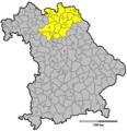 Regierungsbezirk Oberfranken 1970.png
