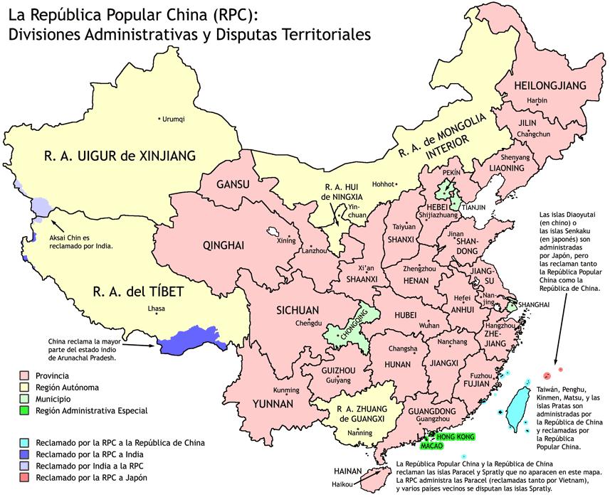 Regiones de China