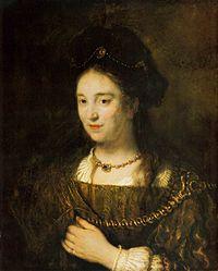 Rembrandt, Harmenszoon van Rijn - Saskia van Uylenburgh - 1643.jpg