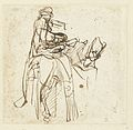 Rembrandt A Man Helping a Rider to Mount a Horse.jpg