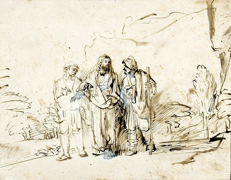 File:Rembrandt Christ with two disciples.jpg