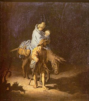 Rembrandt: Flight into Egypt (1627)