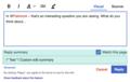 Reply Tool custom edit summary.png