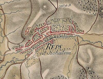トランシルヴァニアのジョセフィン地図にあるルペアの城塞