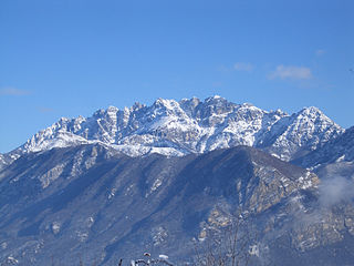 Monte Resegone mountain of the Bergamasque Prealps in Lombardy, northern Italy