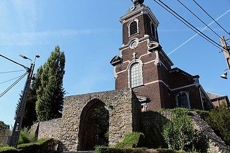 Reste d'architecture militaire devant l'église de Haccourt (2) - 62079-CLT-0003-01.JPG
