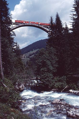 Langwieser Viaduct - View from the south
