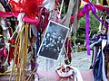 Ribbons and Photograph on the Gates of Crossbones Graveyard.jpg