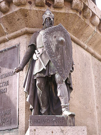Richard I of Normandy - Richard the Fearless as part of the Statue of William the Conqueror in the town square of Falaise.