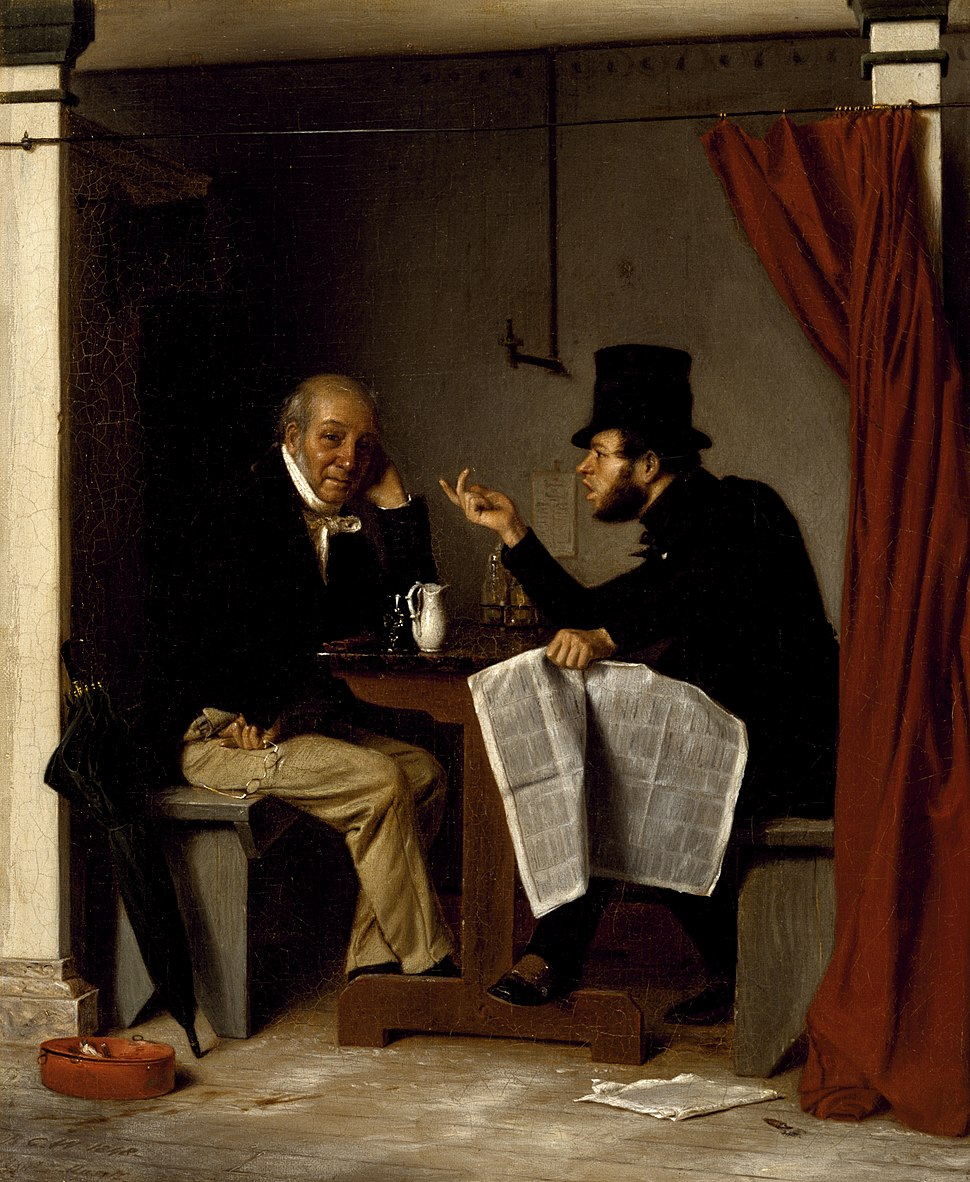 Richard Caton Woodville - Politics in an Oyster House - Walters 371994