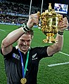 Richie McCaw and the Webb Ellis cup after the Rugby World Cup final 2011.jpg