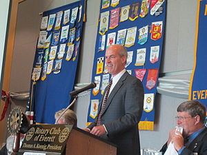 Rick Larsen - Larsen addressing Rotary club