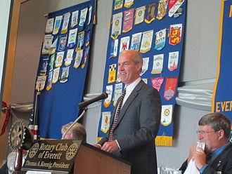 Rick Larsen - Larsen addressing Rotary club