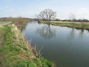 Geography of Dorset - River Stour at Longham, north of Bournemouth