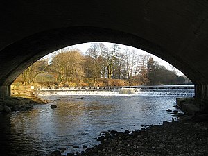 Hornby-with-Farleton - Image: River Wenning under Hornby Bridge geograph.org.uk 640197