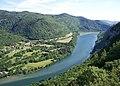 Rivière d'Ain et hameau de Bombois (Matafelon-Granges) depuis Corveissiat.jpg