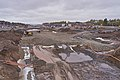Road construction at E29 by Rudshøgda, Hedmark, Norway.jpg