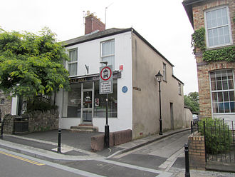 Llandaff - Mrs Pratchett's former sweet shop in Llandaff, Cardiff has a blue plaque commemorating the mischief a young Roald Dahl played on her by putting a mouse in the gobstoppers jar.