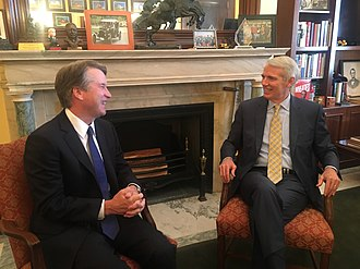 Portman and Brett Kavanaugh in July 2018 Rob Portman and Brett Kavanaugh.jpg