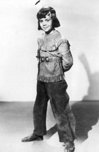 "Robert Blake (actor) - Blake as ""Little Beaver"" in a Red Ryder film serial chapter, ca. 1946"
