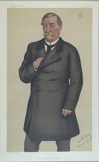 "Robert Napier, 1st Baron Napier of Magdala - ""The British Expedition"". Caricature by Spy published in Vanity Fair in 1878."