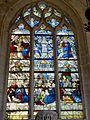 Roberval (60), église Saint-Remy, croisillon sud, verrière n° 6 - vie de la Vierge.JPG