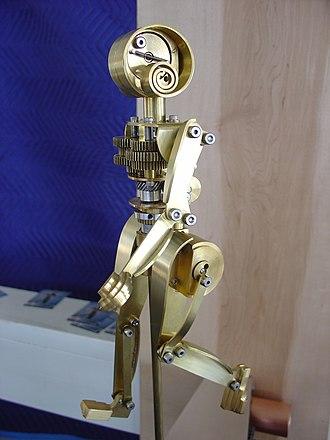 Robotic art - Mechanical Woman Walking by Mark Galt.