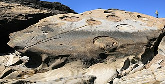 Geological history of Point Lobos - Image: Rock formation at Point Lobos 04 072010
